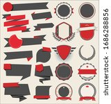 collection of flat shields... | Shutterstock . vector #1686288856