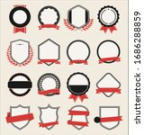 collection of flat shields... | Shutterstock . vector #1686288859