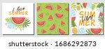 watermelon summer set. cute...   Shutterstock .eps vector #1686292873