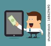 earn money online  business...   Shutterstock .eps vector #168629690