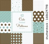 12 Cute Different Dotted Vecto...