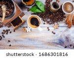 Assortment Of Coffee In Mugs...