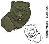 bear mascot for sport teams.... | Shutterstock .eps vector #1686305