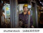 Portrait Worker Industry...