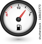 car fuel gauge  vector... | Shutterstock .eps vector #168631970