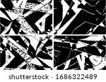 set of grunge textures in black ... | Shutterstock .eps vector #1686322489