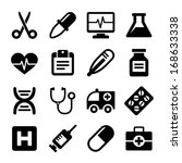 medical icons set | Shutterstock .eps vector #168633338