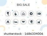 big sale trendy infographic...
