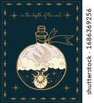 bird  sun and moon  magical...   Shutterstock .eps vector #1686369256