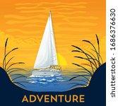 Vector Illustration. Yacht Boat ...