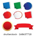 blank stickers label  ribbon | Shutterstock .eps vector #168637718