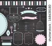design elements set  drawn by... | Shutterstock .eps vector #168638180