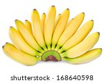 Bananas Isolated On White...