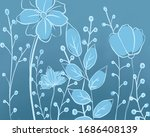 plants and flowers background....   Shutterstock . vector #1686408139