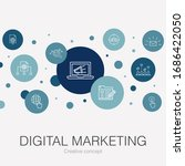 digital marketing trendy circle ...