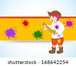 indian festival happy holi...   Shutterstock .eps vector #168642254