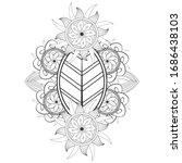 colouring page for adult for... | Shutterstock .eps vector #1686438103