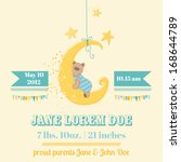 baby shower or arrival card  ... | Shutterstock .eps vector #168644789