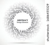 abstract dotted halftone modern ... | Shutterstock .eps vector #1686455329