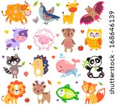 vector illustration of cute... | Shutterstock .eps vector #168646139