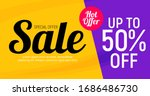 abstract sale banner background....   Shutterstock .eps vector #1686486730