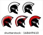 a set of warrior heads. sparta  ... | Shutterstock .eps vector #168649610