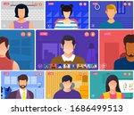 illustrations flat design... | Shutterstock .eps vector #1686499513