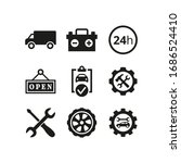 car service and repair icons... | Shutterstock .eps vector #1686524410