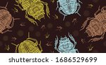 magic scarab  ancient egypt... | Shutterstock .eps vector #1686529699