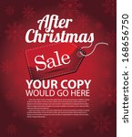 After Christmas sale background template. EPS 10 vector, grouped for easy editing. No open shapes or paths.