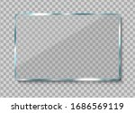 realistic glass banner. clear...   Shutterstock .eps vector #1686569119