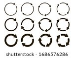 different circular arrows of... | Shutterstock .eps vector #1686576286