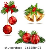 christmas illustration with...   Shutterstock . vector #168658478