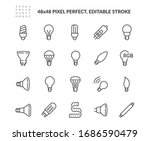 simple set of light bulb... | Shutterstock .eps vector #1686590479