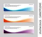 banner design abstract template ... | Shutterstock .eps vector #1686591040