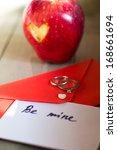 st. valentine day   red... | Shutterstock . vector #168661694