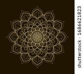 beige and brown round mandala....   Shutterstock .eps vector #1686621823