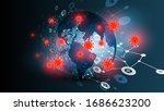 blue abstract network backround ... | Shutterstock .eps vector #1686623200