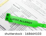 a latex allergy patient... | Shutterstock . vector #168664103