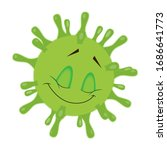 coronavirus smiley. emoji. new... | Shutterstock .eps vector #1686641773