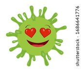 coronavirus smiley. emoji. new... | Shutterstock .eps vector #1686641776