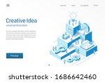 creative idea. business people... | Shutterstock .eps vector #1686642460