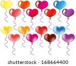 heart balloons | Shutterstock .eps vector #168664400