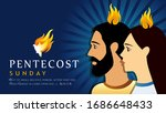 pentecost sunday banner with...   Shutterstock .eps vector #1686648433