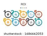 roi infographic design template....