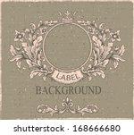 retro floral cartouche.   hand ... | Shutterstock .eps vector #168666680