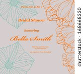 wedding or invitation card....   Shutterstock .eps vector #168668330