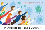 people and doctor be... | Shutterstock .eps vector #1686684079