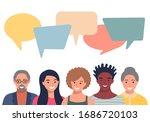 people avatars with speech... | Shutterstock .eps vector #1686720103