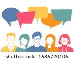 people avatars with speech... | Shutterstock .eps vector #1686720106